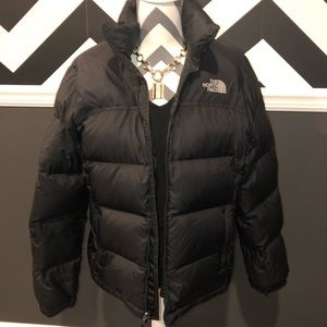 The North Face 700 Down Nuptse Black Puffer Jacket
